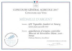 Concours des vins Muscat Rivesaltes 2016